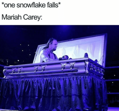 Carey: *one snowflake falls*  Mariah Carey: