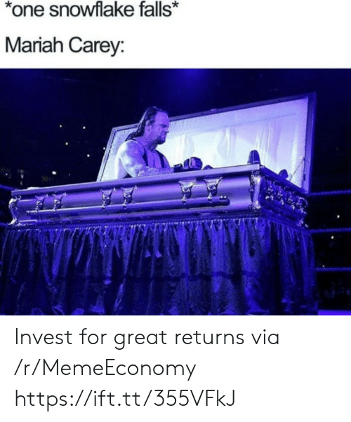 Carey: *one snowflake falls*  Mariah Carey: Invest for great returns via /r/MemeEconomy https://ift.tt/355VFkJ