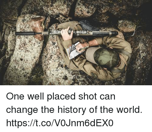 Memes, History, and World: One well placed shot can change the history of the world. https://t.co/V0Jnm6dEX0