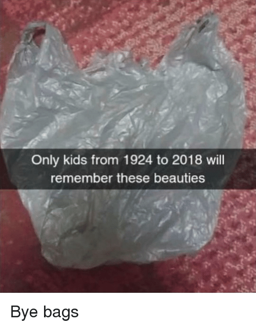 Memes, Kids, and 🤖: Only kids from 1924 to 2018 will  remember these beauties Bye bags