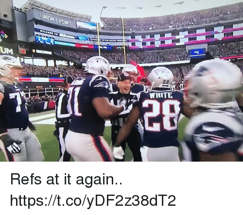 Football, Nfl, and Sports: ONPOINT  WHITE Refs at it again.. https://t.co/yDF2z38dT2