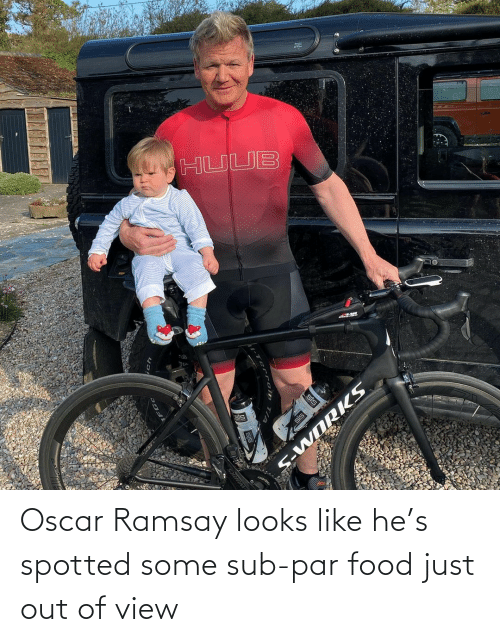 Spotted: Oscar Ramsay looks like he's spotted some sub-par food just out of view