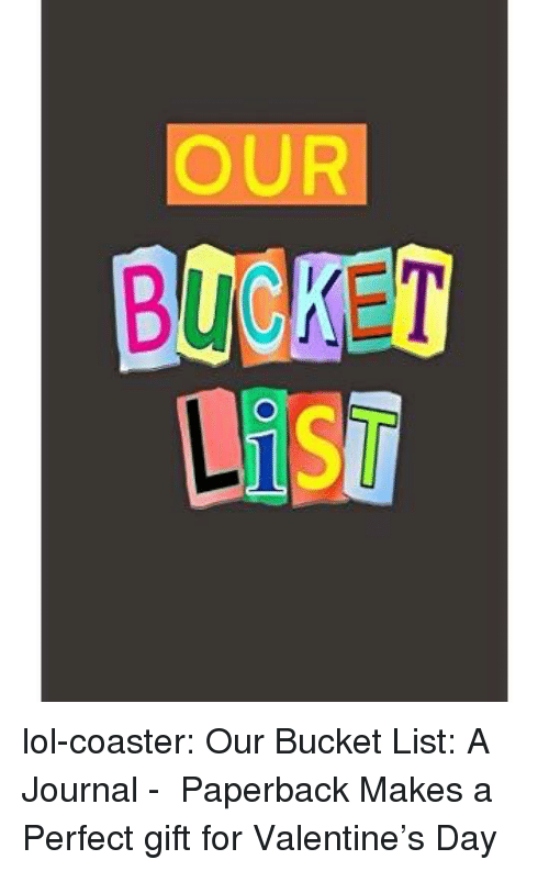 Amazon, Bucket List, and Lol: OUR  BOBKET lol-coaster:   Our Bucket List: A Journal -   Paperback      Makes a Perfect gift for Valentine's Day