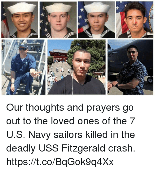 Memes, Navy, and 🤖: Our thoughts and prayers go out to the loved ones of the 7 U.S. Navy sailors killed in the deadly USS Fitzgerald crash. https://t.co/BqGok9q4Xx