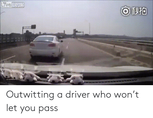 driver: Outwitting a driver who won't let you pass