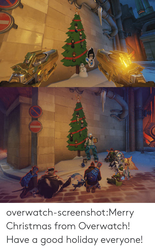 Christmas, Tumblr, and Blog: overwatch-screenshot:Merry Christmas from Overwatch! Have a good holiday everyone!