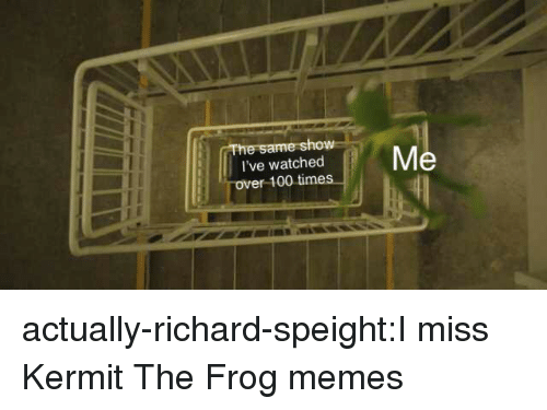 Anaconda, Kermit the Frog, and Memes: ow  I've watched  ver 100 time actually-richard-speight:I miss Kermit The Frog memes