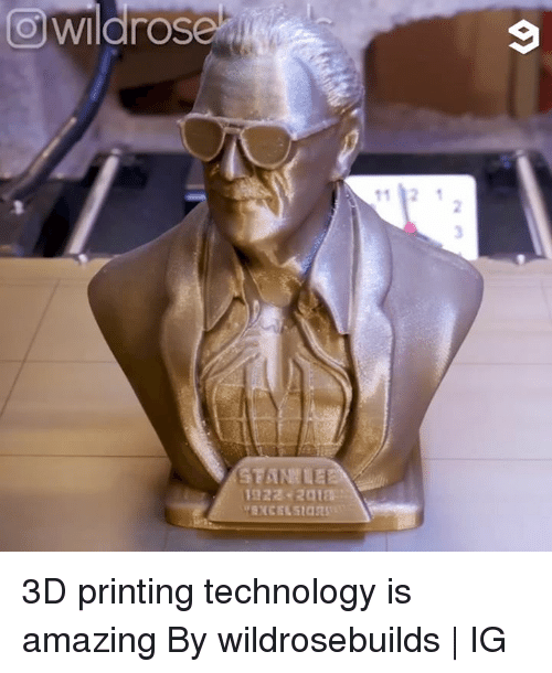Dank, Technology, and Amazing: owildrose  9 3D printing technology is amazing  By wildrosebuilds | IG