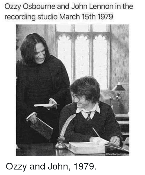 ozzy: Ozzy Osbourne and John Lennon in the  recording studio March 15th 1979 Ozzy and John, 1979.