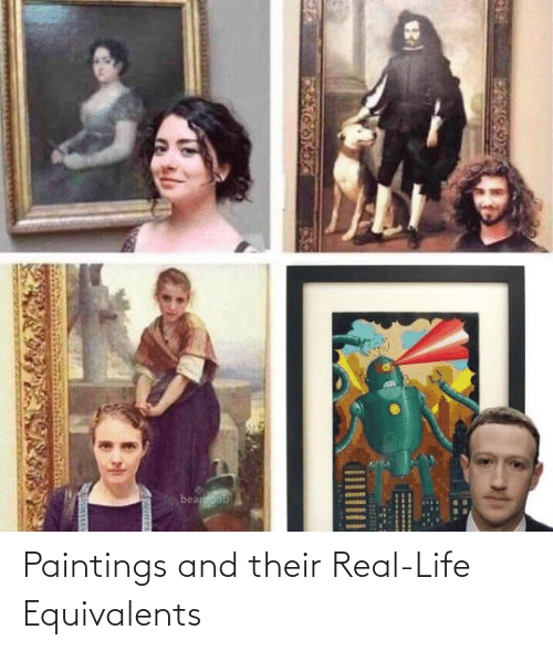 Paintings: Paintings and their Real-Life Equivalents