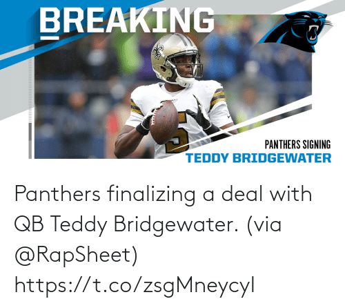 Panthers: Panthers finalizing a deal with QB Teddy Bridgewater. (via @RapSheet) https://t.co/zsgMneycyI