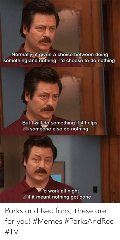 /tv/ : Parks and Rec fans, these are for you! #Memes #ParksAndRec #TV