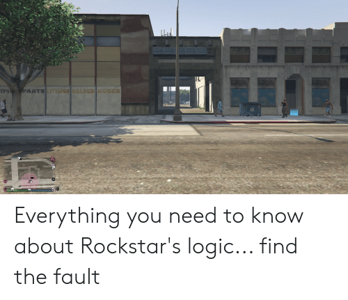 Logic, You, and Find: PARTS FITTINGS VALVES HOSES  IPIN  SL Everything you need to know about Rockstar's logic... find the fault