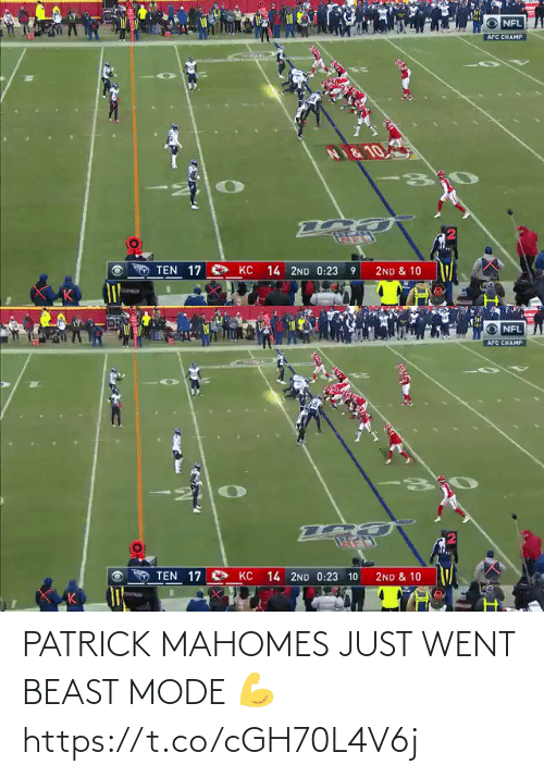 beast: PATRICK MAHOMES JUST WENT BEAST MODE 💪 https://t.co/cGH70L4V6j