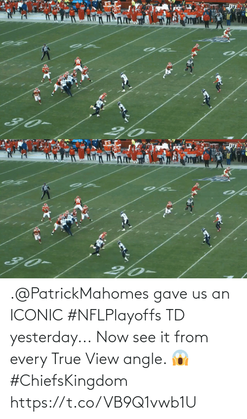 True: .@PatrickMahomes gave us an ICONIC #NFLPlayoffs TD yesterday...  Now see it from every True View angle. 😱 #ChiefsKingdom https://t.co/VB9Q1vwb1U
