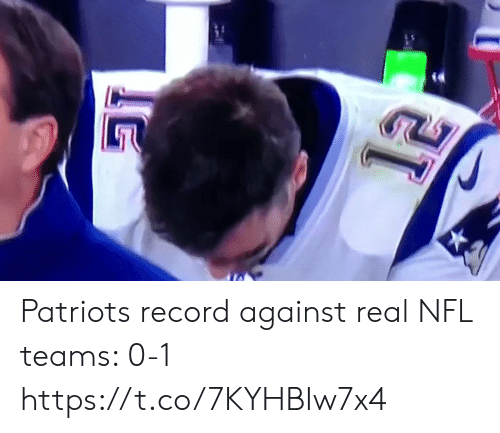 Teams: Patriots record against real NFL teams: 0-1 https://t.co/7KYHBIw7x4
