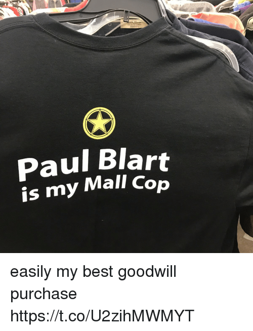 Copping: Paul Blart  is my Mall Cop easily my best goodwill purchase https://t.co/U2zihMWMYT