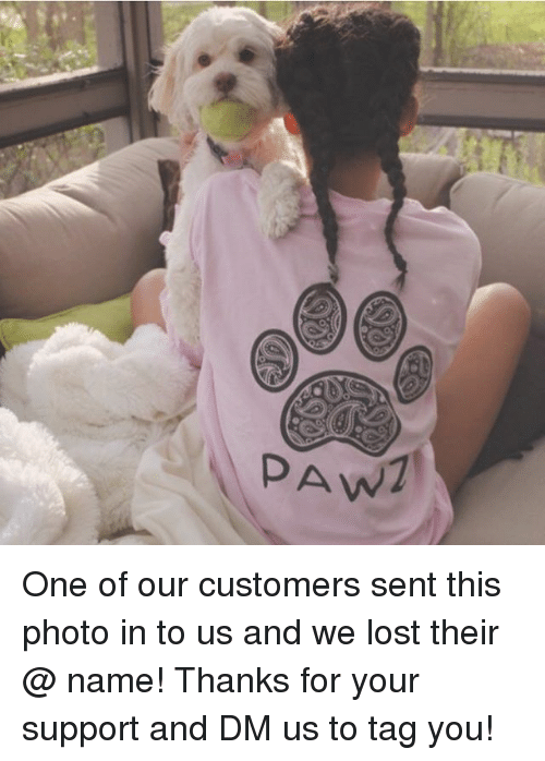 Memes, Lost, and 🤖: PAW One of our customers sent this photo in to us and we lost their @ name! Thanks for your support and DM us to tag you!