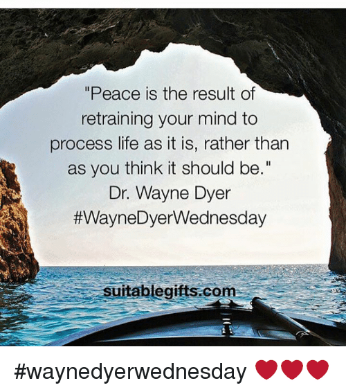 Peace Is The Result Of Retraining Your Mind To Process Life As It Is