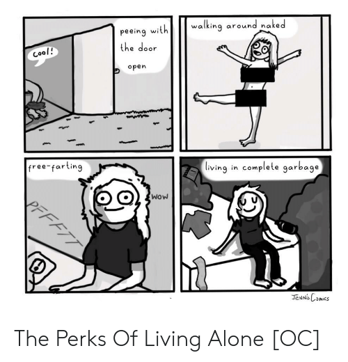 farting: peeing withwalking around naked  the door  open  ool!  free farting  lving in complete garbage  wow The Perks Of Living Alone [OC]