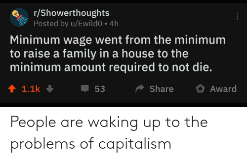 Capitalism: People are waking up to the problems of capitalism