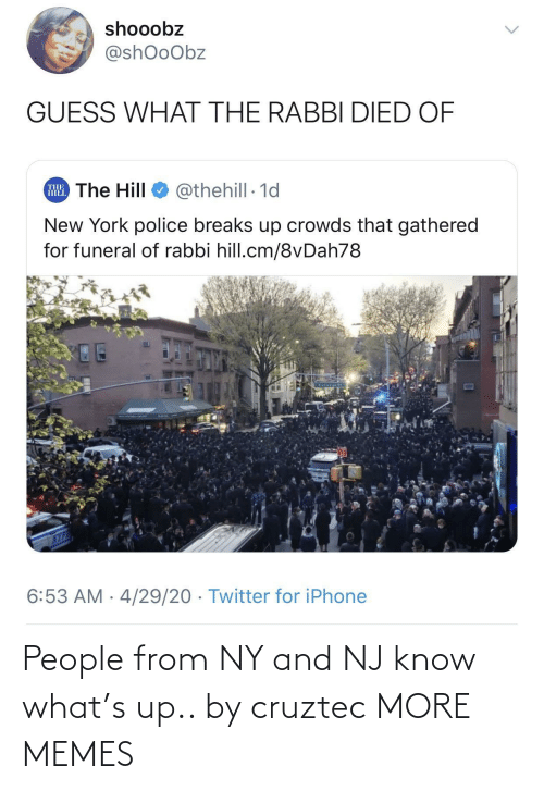 Know What: People from NY and NJ know what's up.. by cruztec MORE MEMES