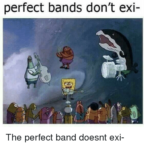 Band, Bands, and Perfect: perfect bands don't exi- The perfect band doesnt exi-