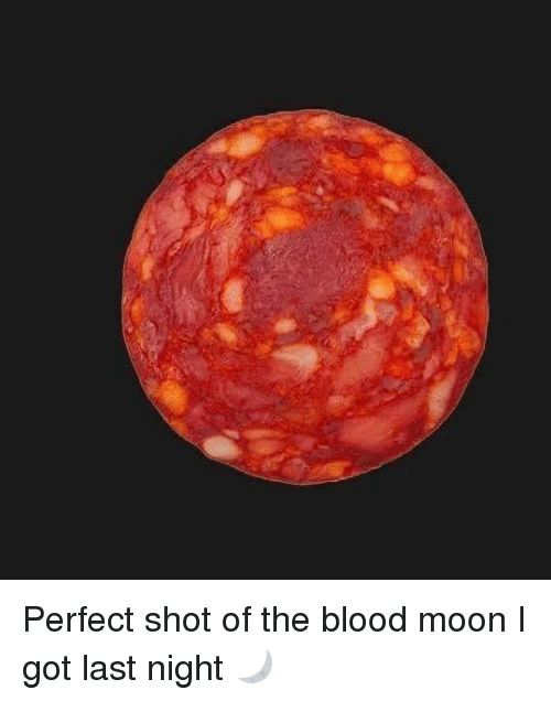 Blood Moon, Memes, and Moon: Perfect shot of the blood moon I got last night 🌙