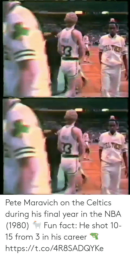 fact: Pete Maravich on the Celtics during his final year in the NBA (1980) 🐐   Fun fact: He shot 10-15 from 3 in his career 🔫 https://t.co/4R8SADQYKe