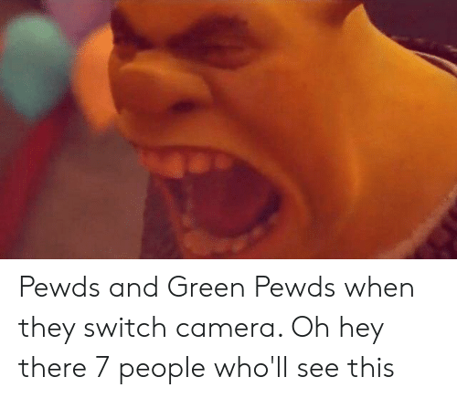Camera, Switch, and Green: Pewds and Green Pewds when they switch camera. Oh hey there 7 people who'll see this