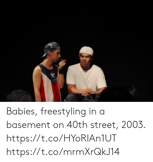 Freestyling, Memes, and 🤖: PFO Babies, freestyling in a basement on 40th street, 2003.  https://t.co/HYoRIAn1UT https://t.co/mrmXrQkJ14