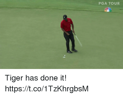 Tiger, Pga, and Pga Tour: PGA TOUR Tiger has done it! https://t.co/1TzKhrgbsM