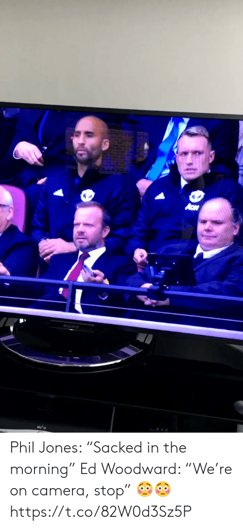 "Phil: Phil Jones: ""Sacked in the morning"" Ed Woodward: ""We're on camera, stop""  ?? https://t.co/82W0d3Sz5P"