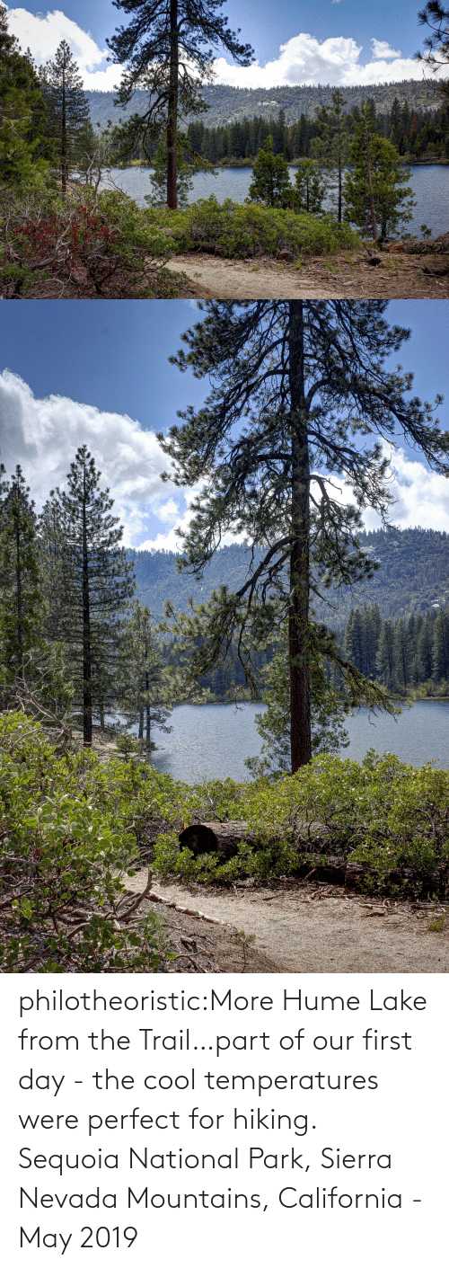 California: philotheoristic:More Hume Lake from the Trail…part of our first day - the cool temperatures were perfect for hiking.  Sequoia National Park, Sierra Nevada Mountains, California - May 2019
