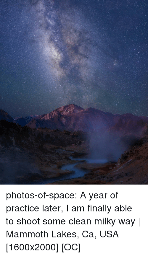 Tumblr, Blog, and Space: photos-of-space:  A year of practice later, I am finally able to shoot some clean milky way | Mammoth Lakes, Ca, USA [1600x2000] [OC]