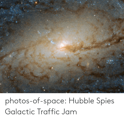 traffic jam: photos-of-space:  Hubble Spies Galactic Traffic Jam
