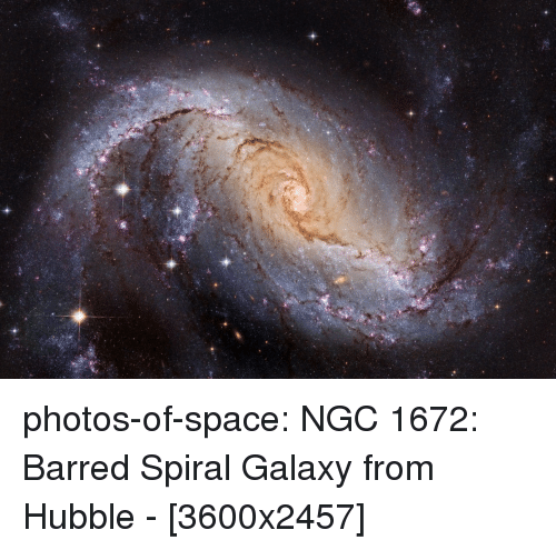 barred: photos-of-space:  NGC 1672: Barred Spiral Galaxy from Hubble - [3600x2457]