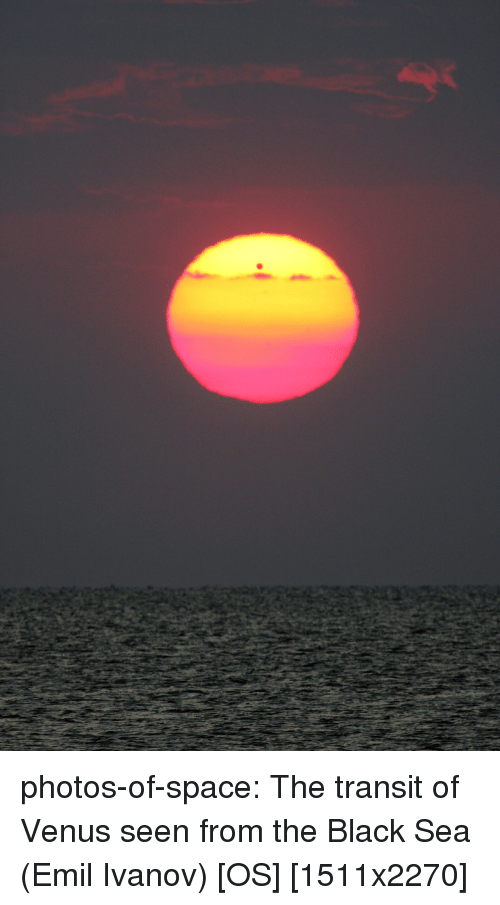 Emil: photos-of-space:  The transit of Venus seen from the Black Sea (Emil Ivanov) [OS] [1511x2270]