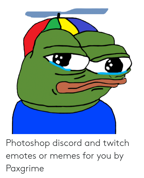 Photoshop Discord and Twitch Emotes or Memes for You by