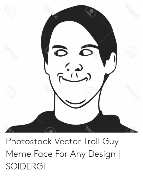 Meme, Troll, and Design: Photostock Vector Troll Guy Meme Face For Any Design | SOIDERGI