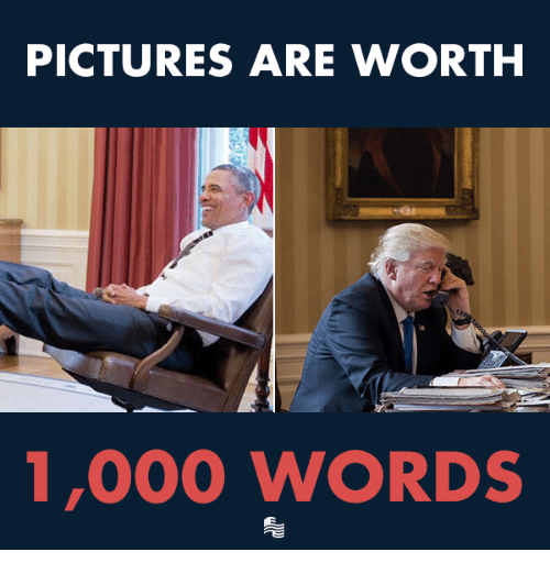Pictures, Conservative, and Words: PICTURES ARE WORTH  1,000 WORDS