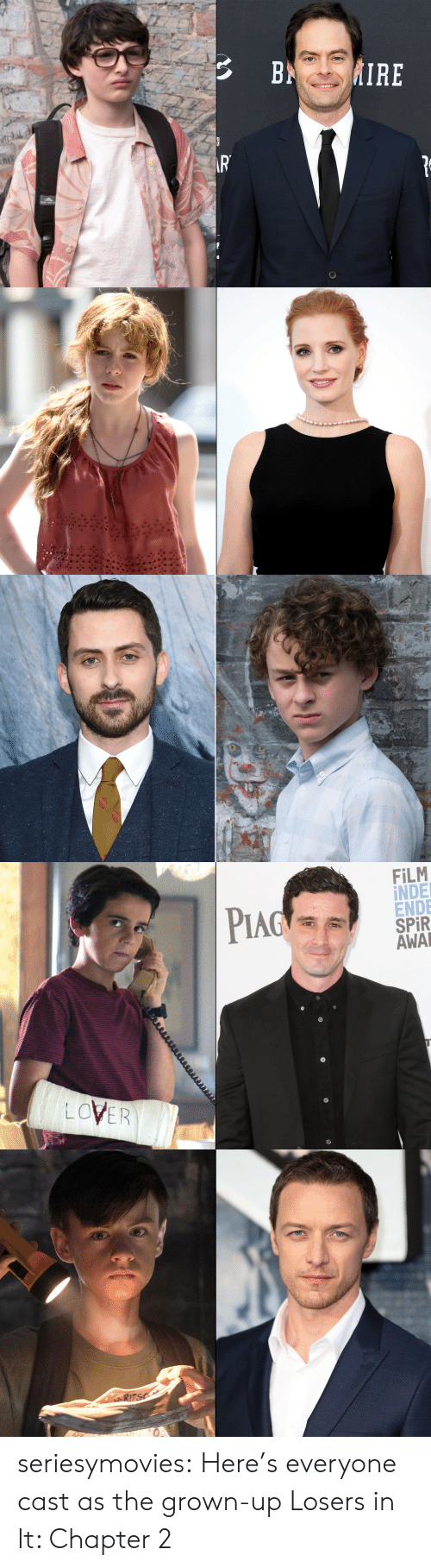 spr: Pind :  FİLM  İNDE  ENDE  SPR  AWA  PIA  LOVER seriesymovies:  Here's everyone cast as the grown-up Losers in It: Chapter 2