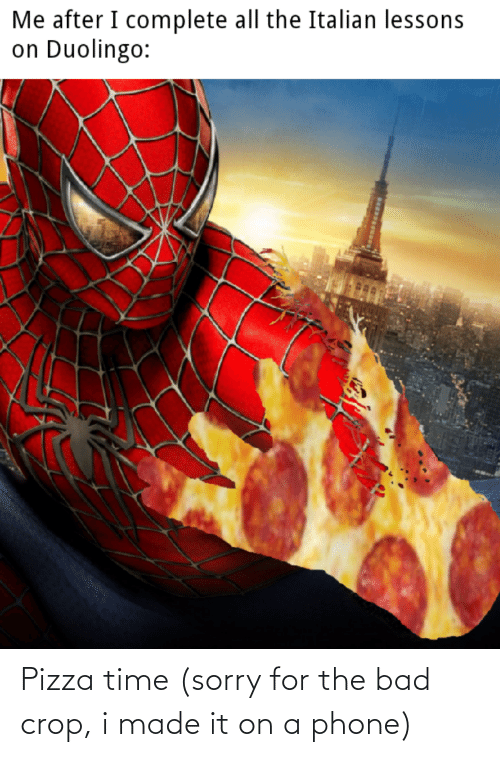 Phone: Pizza time (sorry for the bad crop, i made it on a phone)