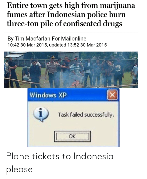 Indonesia: Plane tickets to Indonesia please