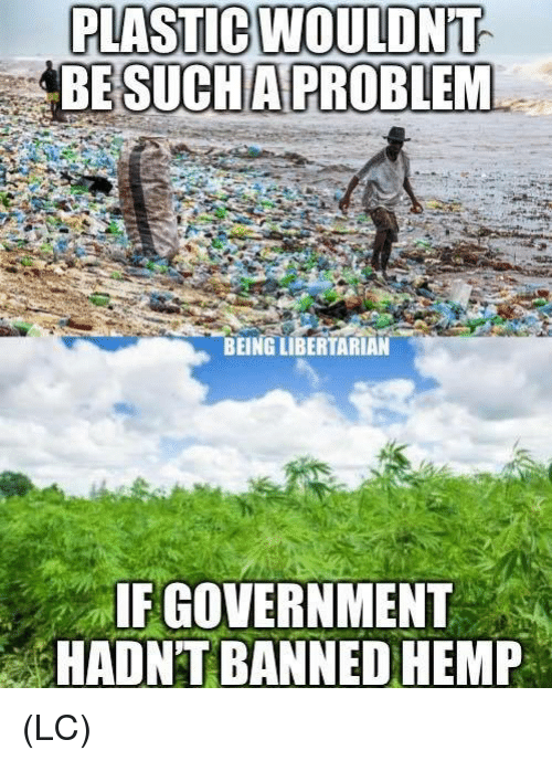 Memes, Government, and Libertarian: PLASTİCUOULDNT  BESUCHA PROBLEM  BEING LIBERTARIAN  IF GOVERNMENT  HADNT BANNED HEMP (LC)