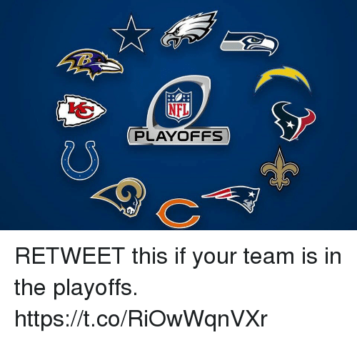 Team, This, and Retweet This: PLAYOFFS RETWEET this if your team is in the playoffs. https://t.co/RiOwWqnVXr