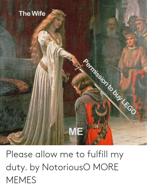 My: Please allow me to fulfill my duty. by NotoriousO MORE MEMES