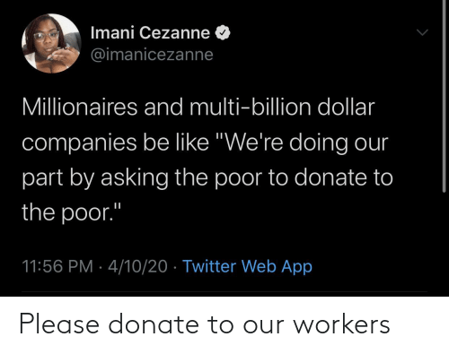 Workers: Please donate to our workers