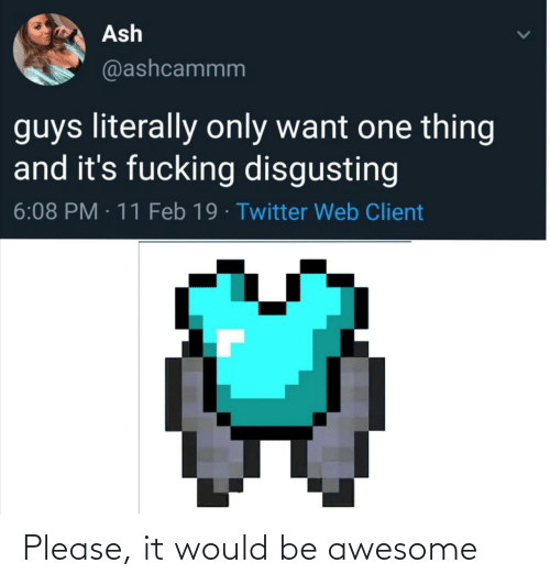 please: Please, it would be awesome