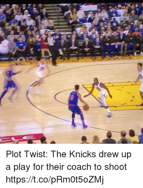 New York Knicks, Sports, and Coach: Plot Twist: The Knicks drew up a play for their coach to shoot https://t.co/pRm0t5oZMj